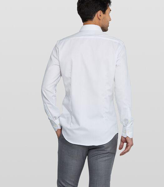 Strijkvrij twill overhemd met streepdessin