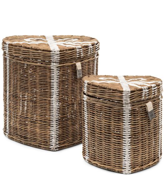 RR Heart Basket Set Of 2 pieces