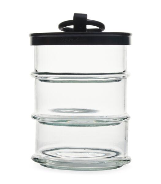 Cordoba Triple Storage Jar noir