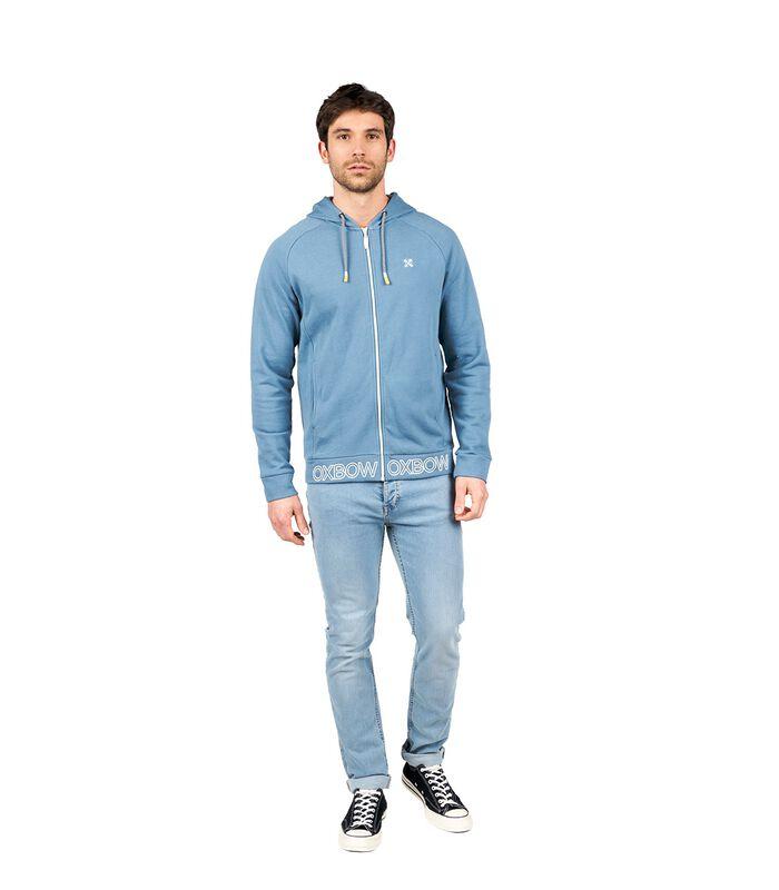 Sweater met kap en rits STARI image number 3