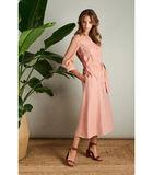 Romantische maxi jurk in oudroze image number 0