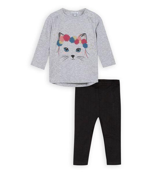 2-delige t-shirt en leggingset
