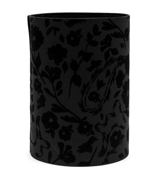 Abat-jour cylindrique à fleurs 28x40