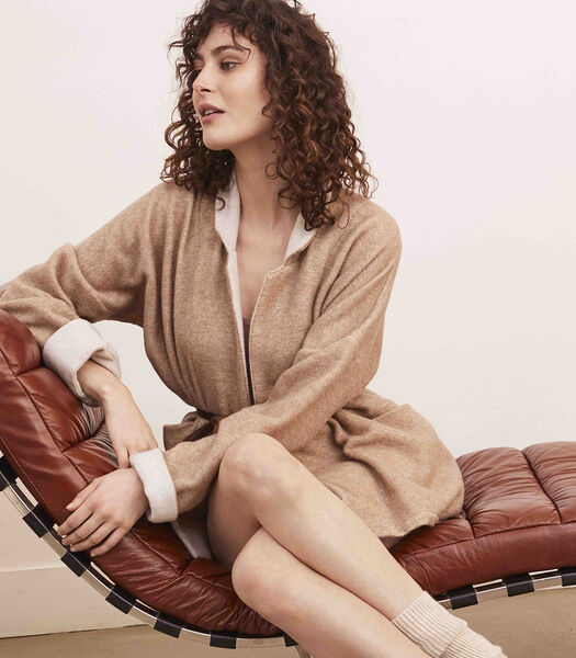 Poncho court homewear Laine polyamide