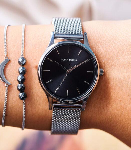 Day & Night Horloge zilverkleurig VH05015