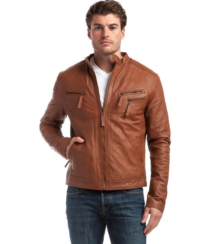 ALESSANDRO  jas in schapenleer biker stijl image number 1