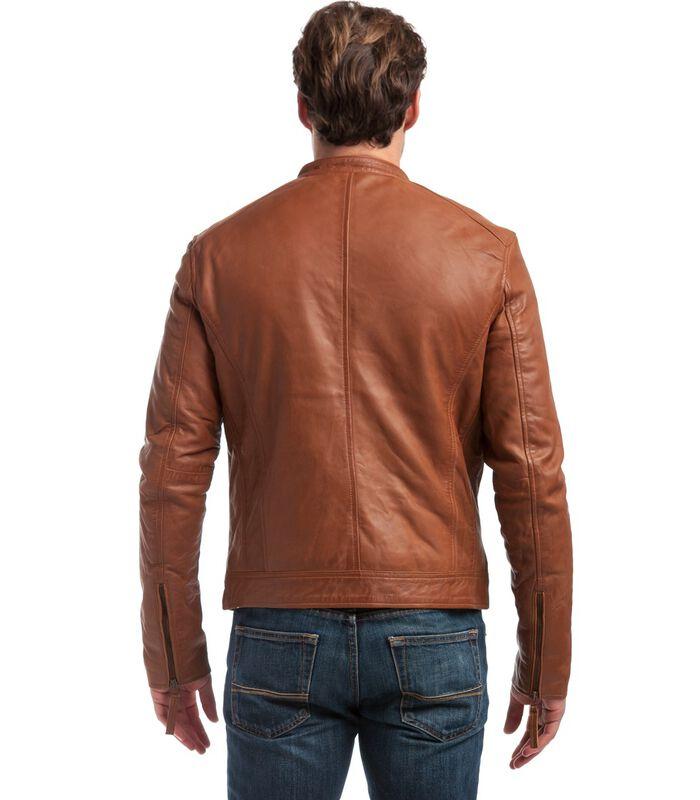 ALESSANDRO  jas in schapenleer biker stijl image number 3