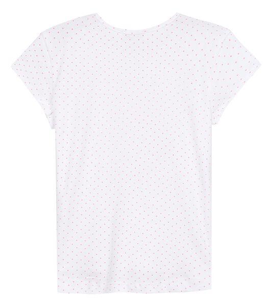 Geprinte T-shirt met ronde hals en kwastjes