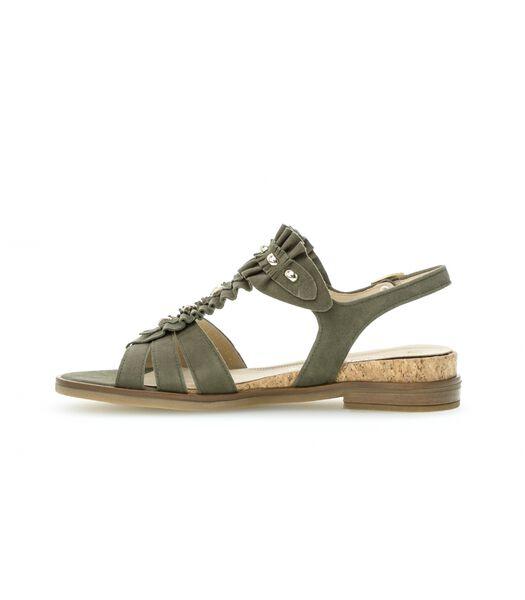 Sandales rubis / naturel en cuir