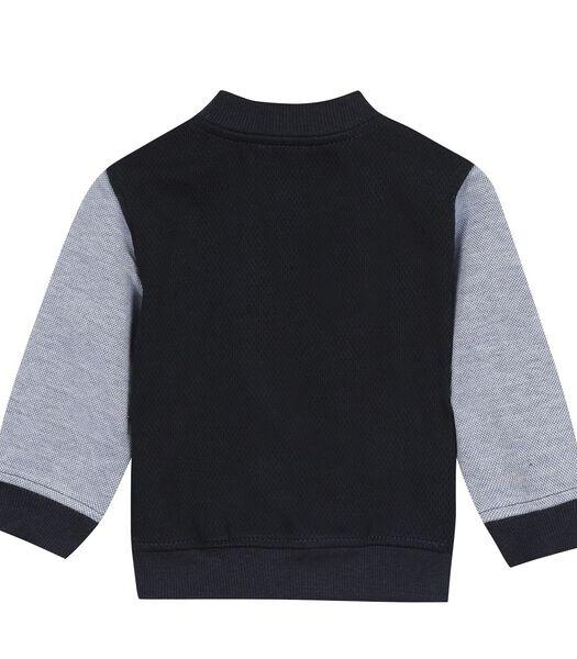 Fleece sweatshirt met drukknopen