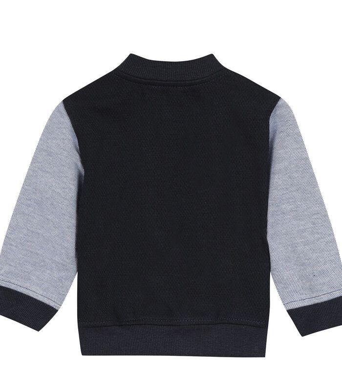 Fleece sweatshirt met drukknopen image number 1