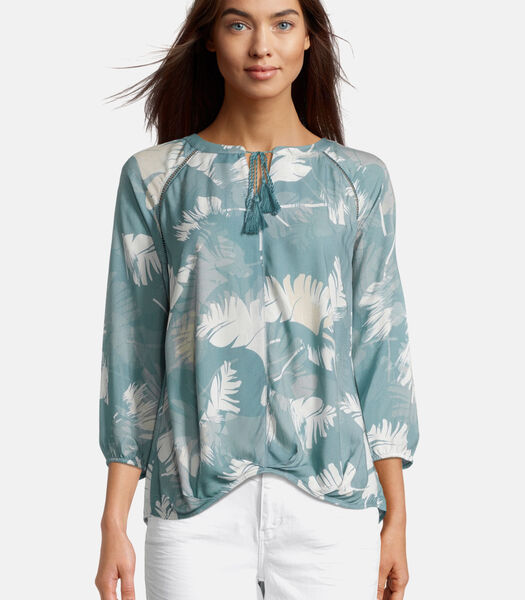 Casual blouse met kwastjes