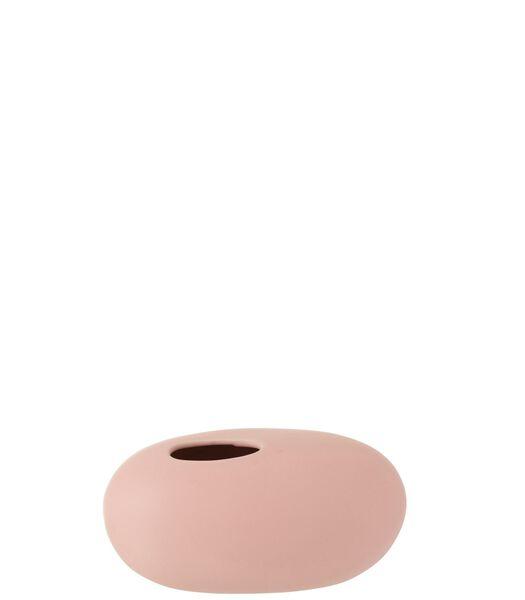 Vaas Ovaal Keramiek Mat Pastel Roze Large