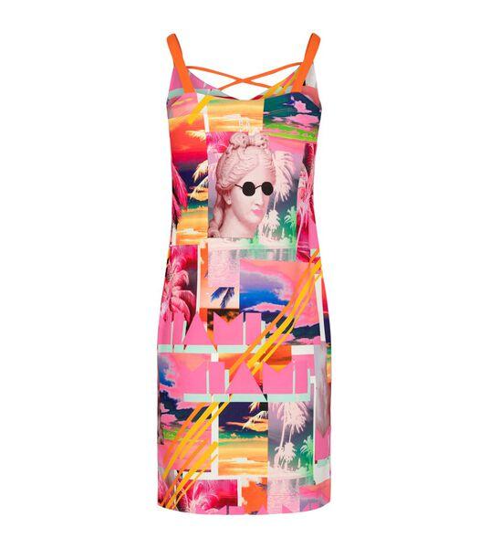 Vloeibare jersey jurk FLORIDA