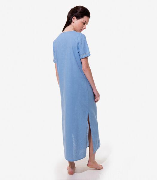 Sahara - Homewear Hemd met knopen linnen