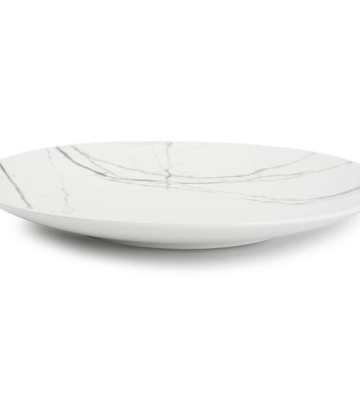 Assiette plate 26,5cm marble Stone - set/4