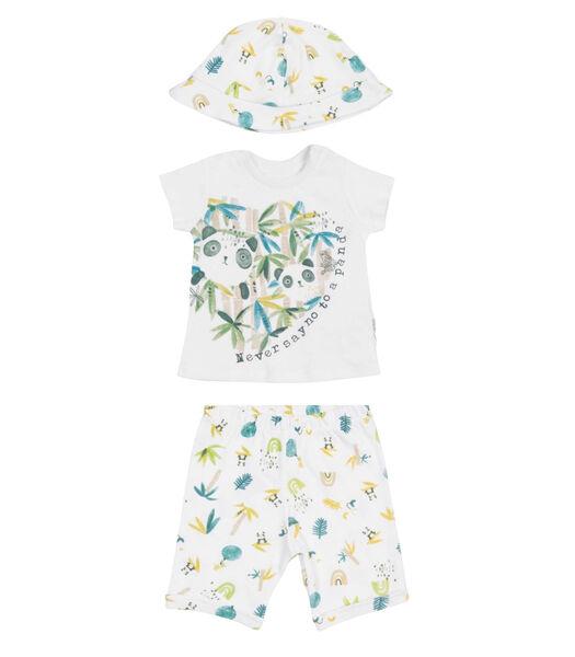 Biologisch katoenen baby kleertjes set, PANDA