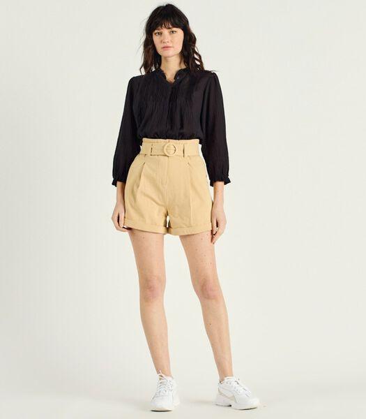Korte broek met hoge taille en plooien ADRIANNA