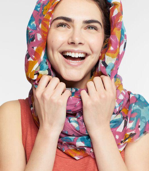 Bedrukte foulard RIEUR in katoen