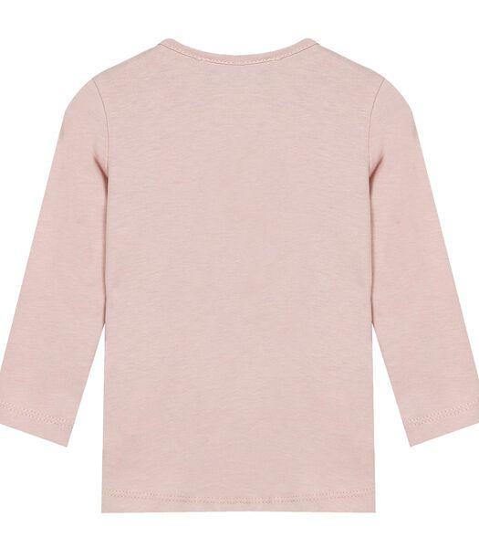 T-shirt met lange mouwen en kittenprint