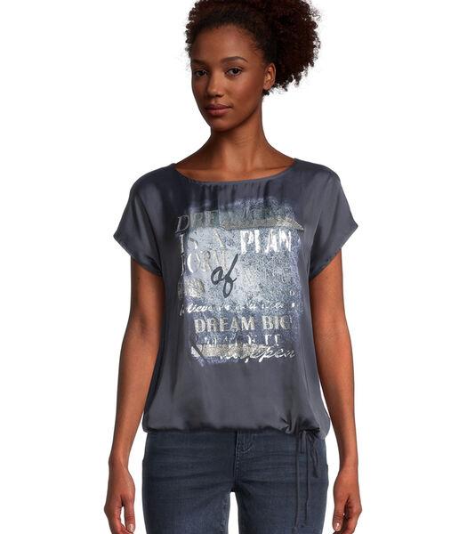 T-shirt basique à motif placé