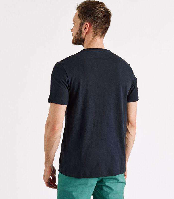 T-shirt met zak bedrukte THUNDER image number 2