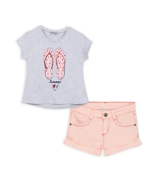 Set met t-shirt en shorts