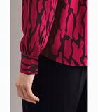 Shirtblouse Print Lange mouwen Kraag image number 3