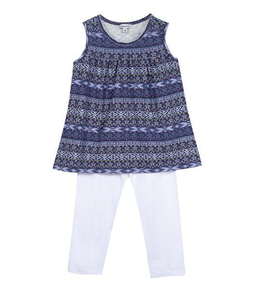 Mouwloze pyjama en korte legging