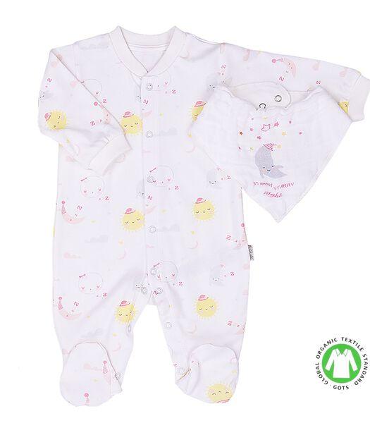 Biologisch katoenen babypyjama met bandana en doek