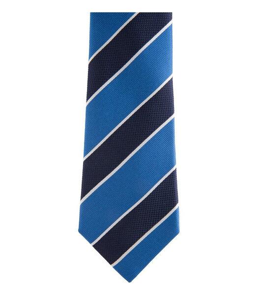 Cravate club à rayures et en soie