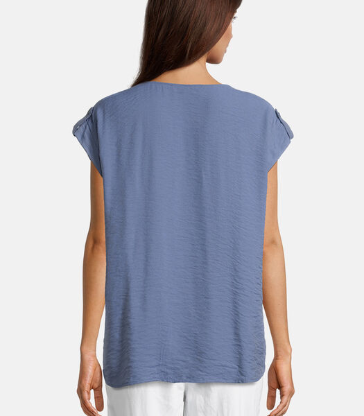 Blouse in shirtstijl met opgestikte zakken