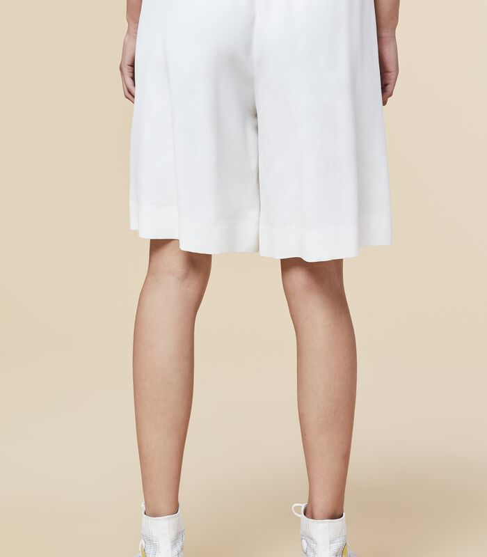 Marine-blauwe korte broek met elastische taille HOUSAMY image number 3