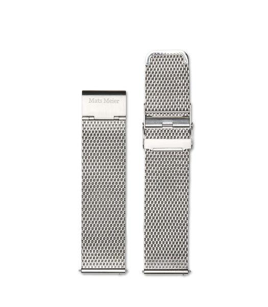 Horlogeband zilverkleurig MM40004