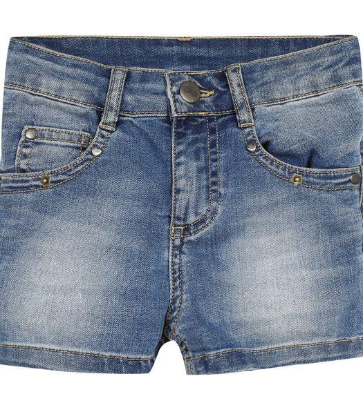 Short en jean  délavé forme 5 poches
