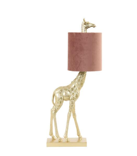 Tafellamp Giraffe - Goud/Roze - 26x16x61cm
