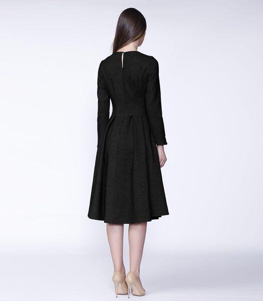Retro jurk met wijde pijpen