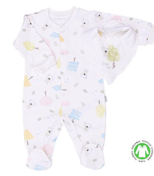 Pyjama bébé avec bandana et lange en coton bio, KOALA