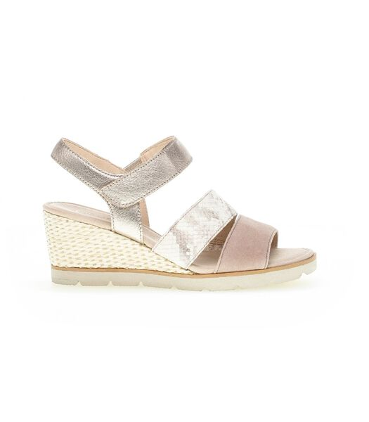 Sandales rose en cuirs