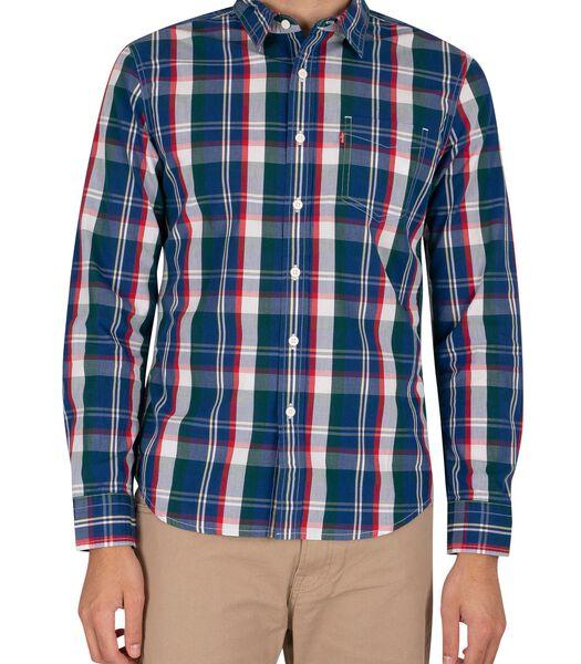 Klassiek slim-fit overhemd met zak