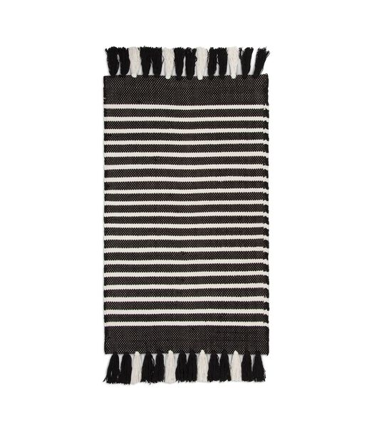 Tapis de bain Stripes & Structure Noir et Blanc