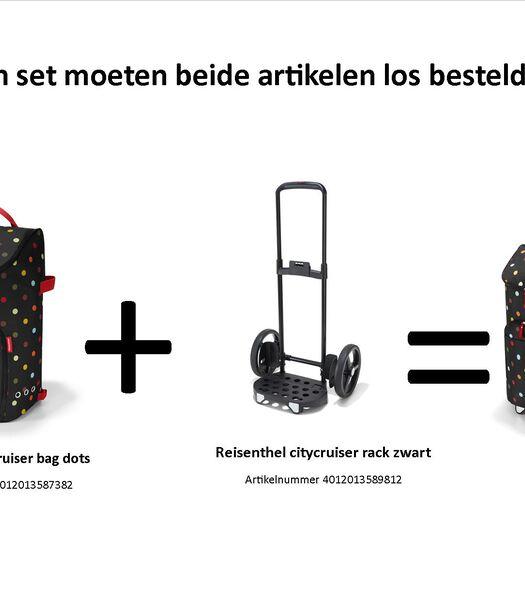 Citycruiser Bag - Boodschappentrolley - Dots Zwart