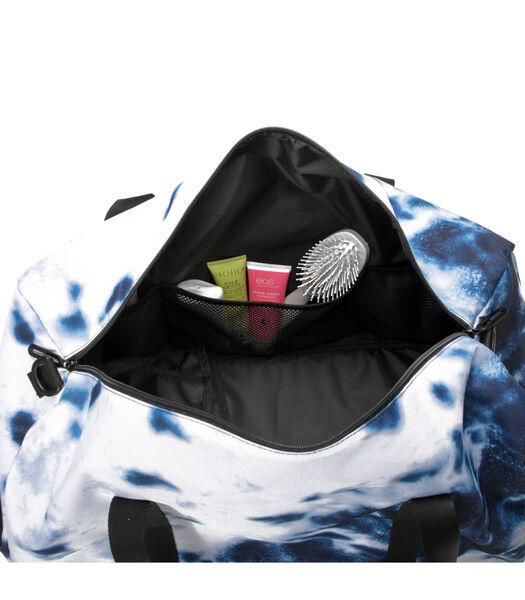 Sac de week-end avec poche à chaussure (Bleu, Blanc)