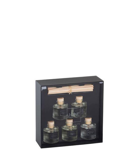 Boite 5 Huiles Parfumees Simplicity Noir/Argent