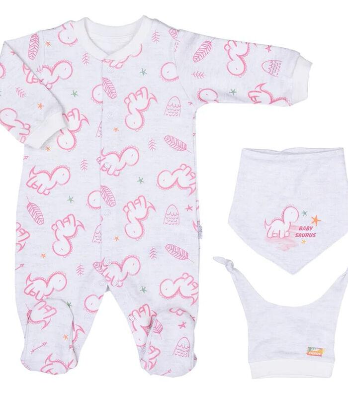 Baby pyjama met bandana en mutsje van biologisch katoen image number 0