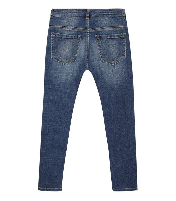 5 pocket slim jeans met ruches image number 1