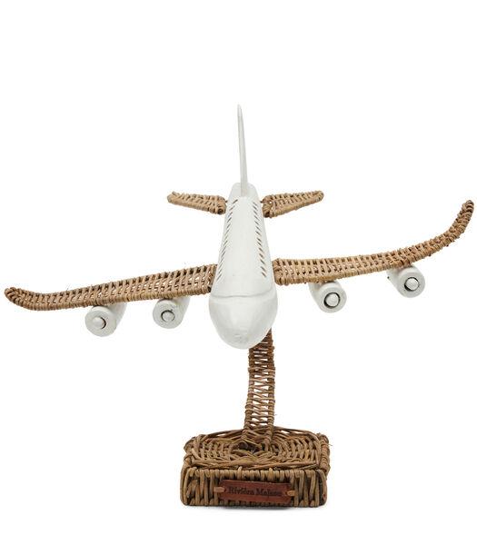 Rustic Rattan Plane On Stand