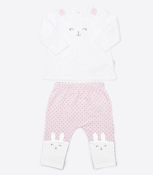 2-delige babypyjama van biologisch katoen, RABBIT