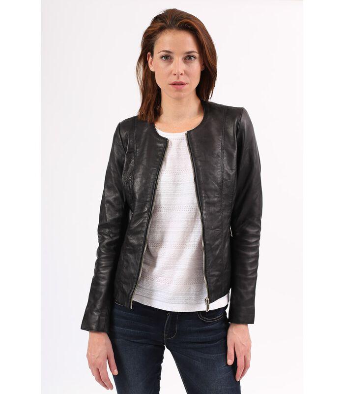 CELINE jas in schapenleer biker stijl image number 0