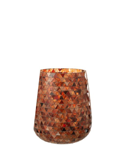 Photophore Mosaiques Verre Orange Large